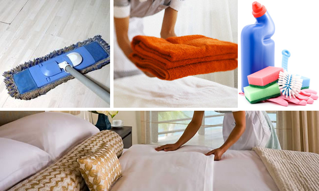 Flexible housekeeping for a holiday home