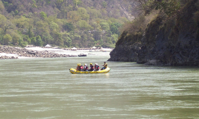 Rafting in the Ganges in Rishikesh