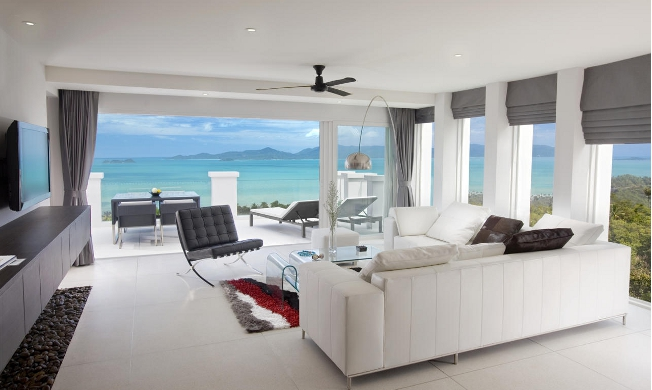 View of the living room at Infinity Residences