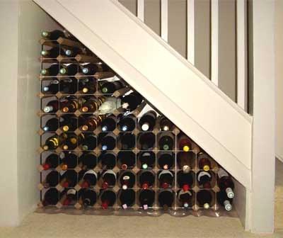 Under stairs wine racks