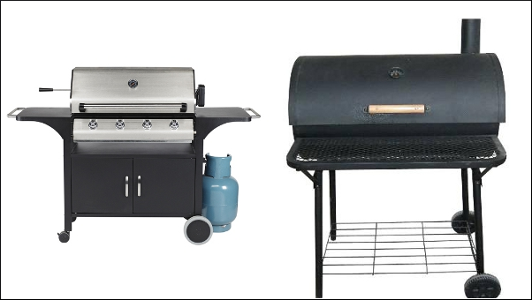 Gas versus charcoal barbecue grill