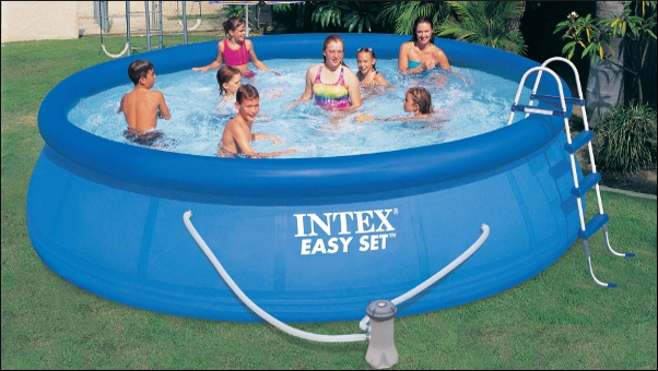 Intex easy-set air ring pool