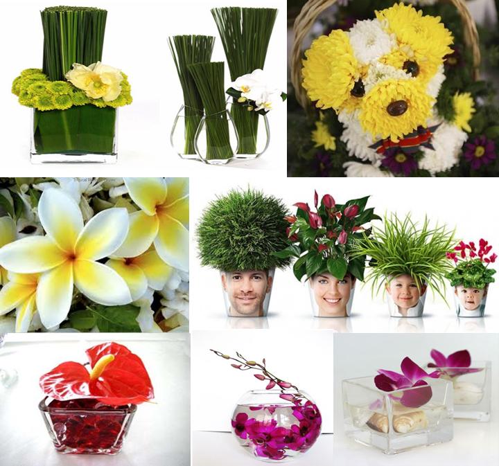 Ideas for floral arrangements