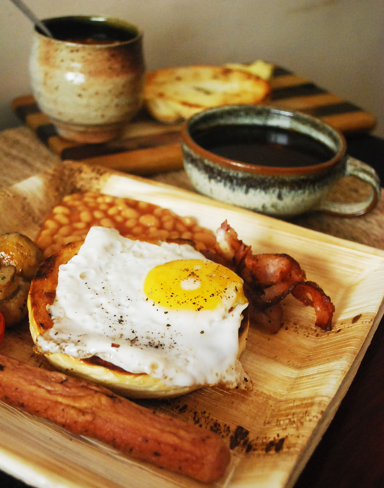 Starting the day with a perfect English breakfast