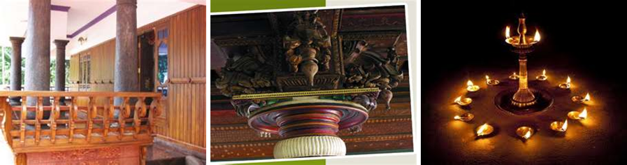 Architectural details, and cultural practices such as lit lamps, add interest to property photos.