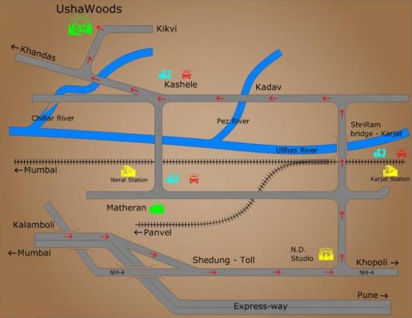 Ushawoods location map