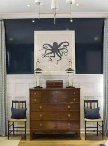 Simple art highlights good furniture.