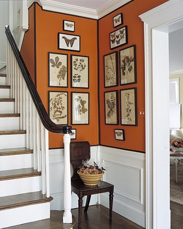 Corners come alive with clustered paintings.