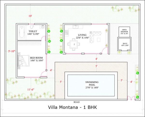 Villa Montana 1BHK floor plan