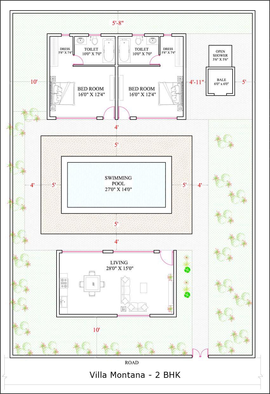 Villa Montana 2BHK floor plan