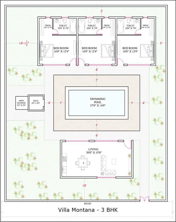 Villa Montana 3BHK floor plan