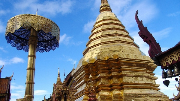 Wat Phrathat Doi Suthep, a Theravada Buddhist temple in Chiang Mai