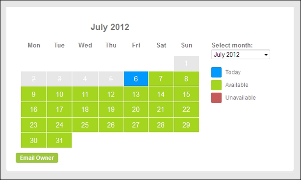 Tripvillas.com availability calendar