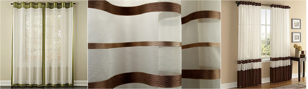 Modern Sheer Curtains with Bands