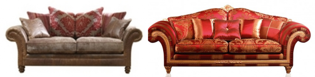 Formal Seating - Match the cushions to the sofa fabric