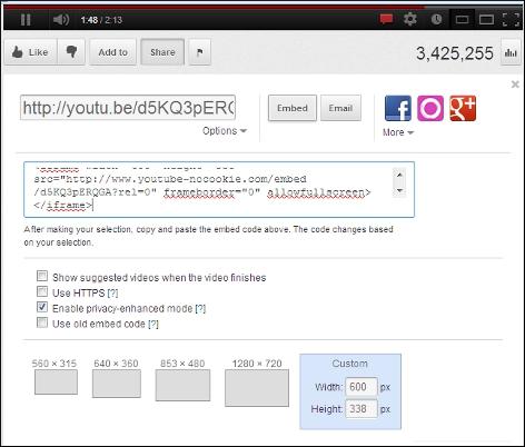 YouTube add Video in Website