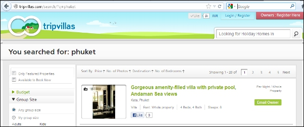 TripVillas good headline