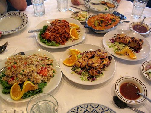Delicious Thai dinner