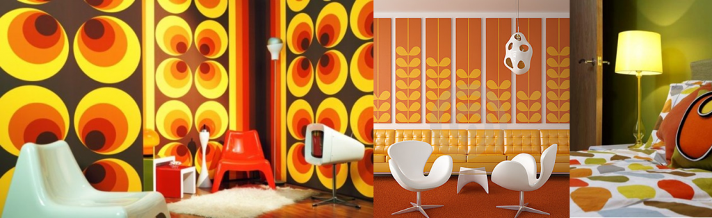 Orange is a very popular palette for Retro