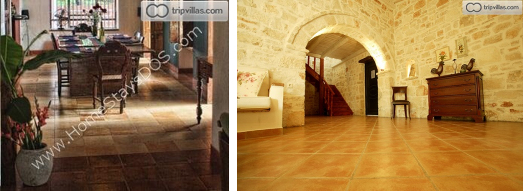 Tiled floors are essentially Mediterranean.