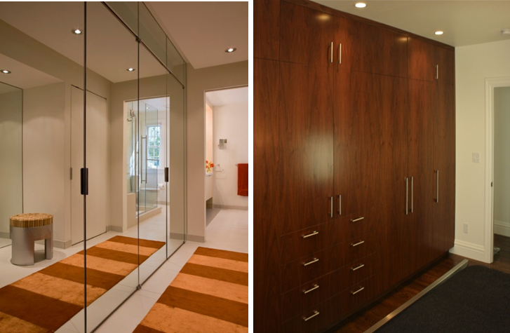Mirroring wardrobe surfaces can transform a space.
