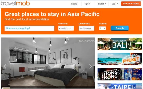Travelmob homepage