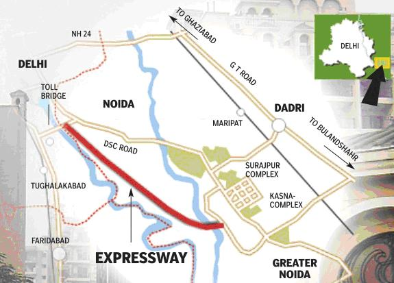 Noida location map