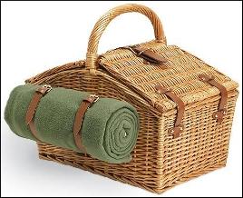 Beach picnic basket