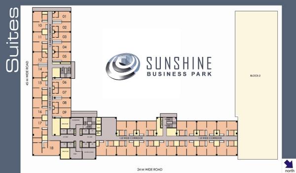Sunshine Business Park Suites layout plan