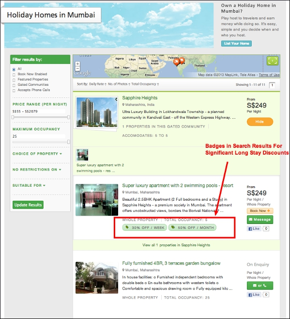 TripVillas Rate Manager feature