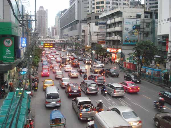 Thailand employment street scene