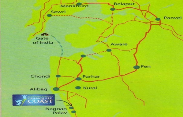 Tranquille Coast Alibaug location map