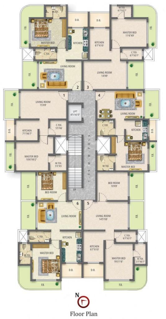 Sai Residency floor plan