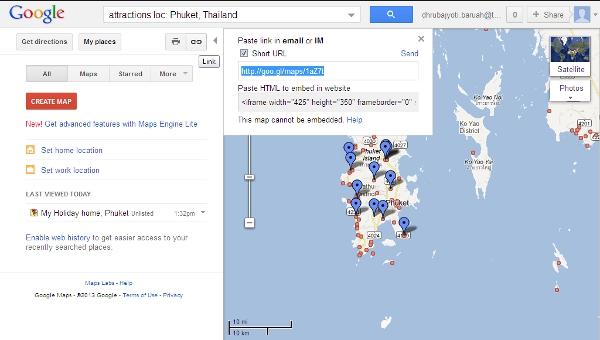 Google map short url