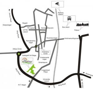 Karle Habitat Mysore location map