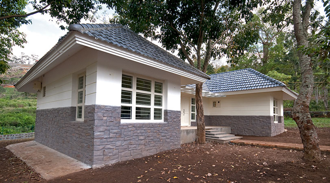 View of a villa offered in a gated community in Yercaud