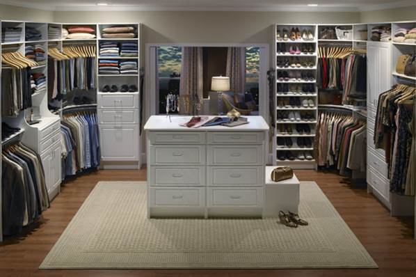 A double walk-in wardrobe