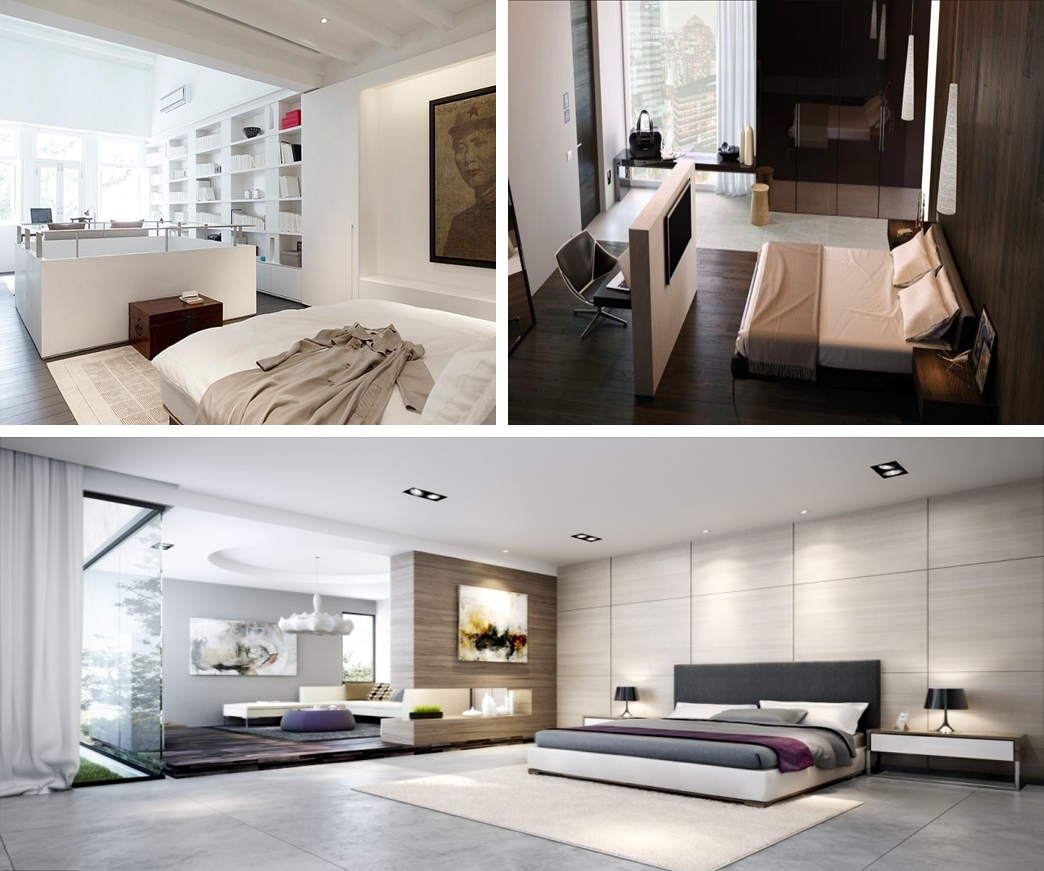 Zoning bedrooms architecturally or by interior partitions