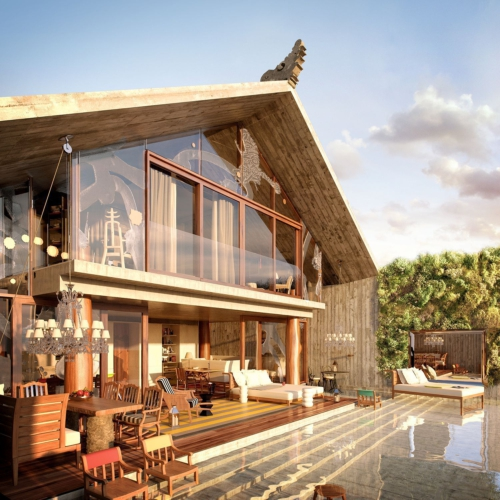 The Stairs Villa Hotel Envisioned by Philippe Starck Launches Sale of 12 Limited-Edition Loft Pool Villas in Bali