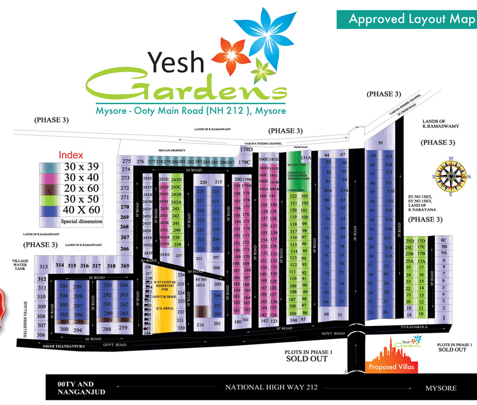 Yesh Gardens Mysore layout map
