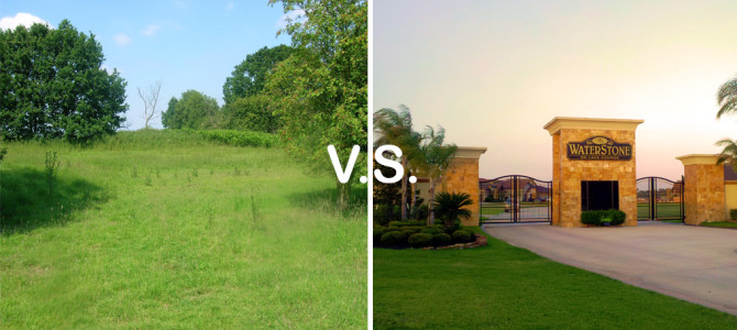 Buying land versus buying in a gated community