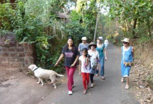 A walk to the Zuari river