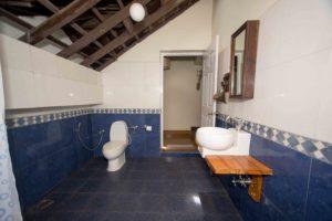 Indigo room attached bath